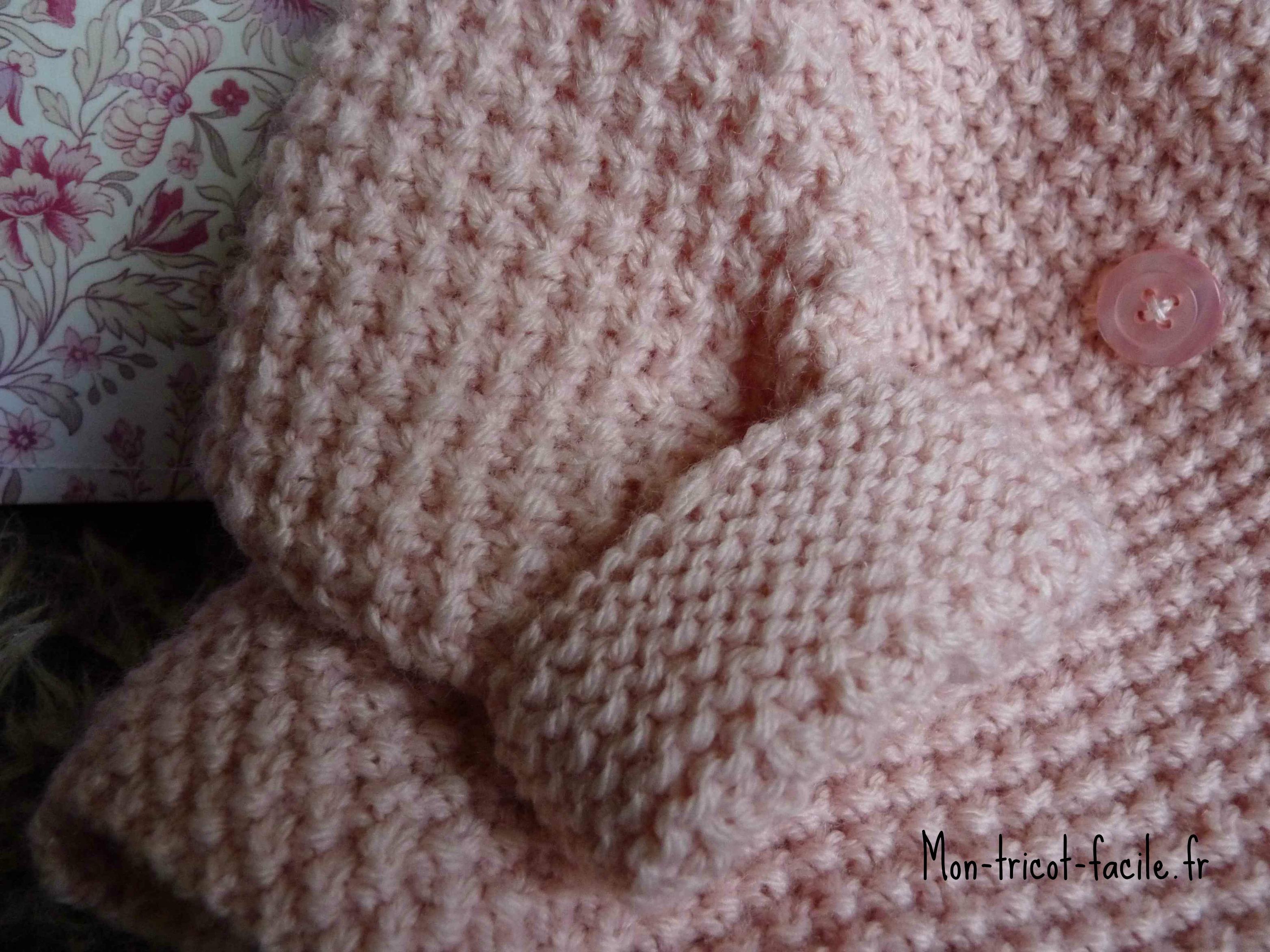 modele tricot facile debutant