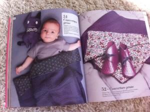 modèle couverture bébé tricot