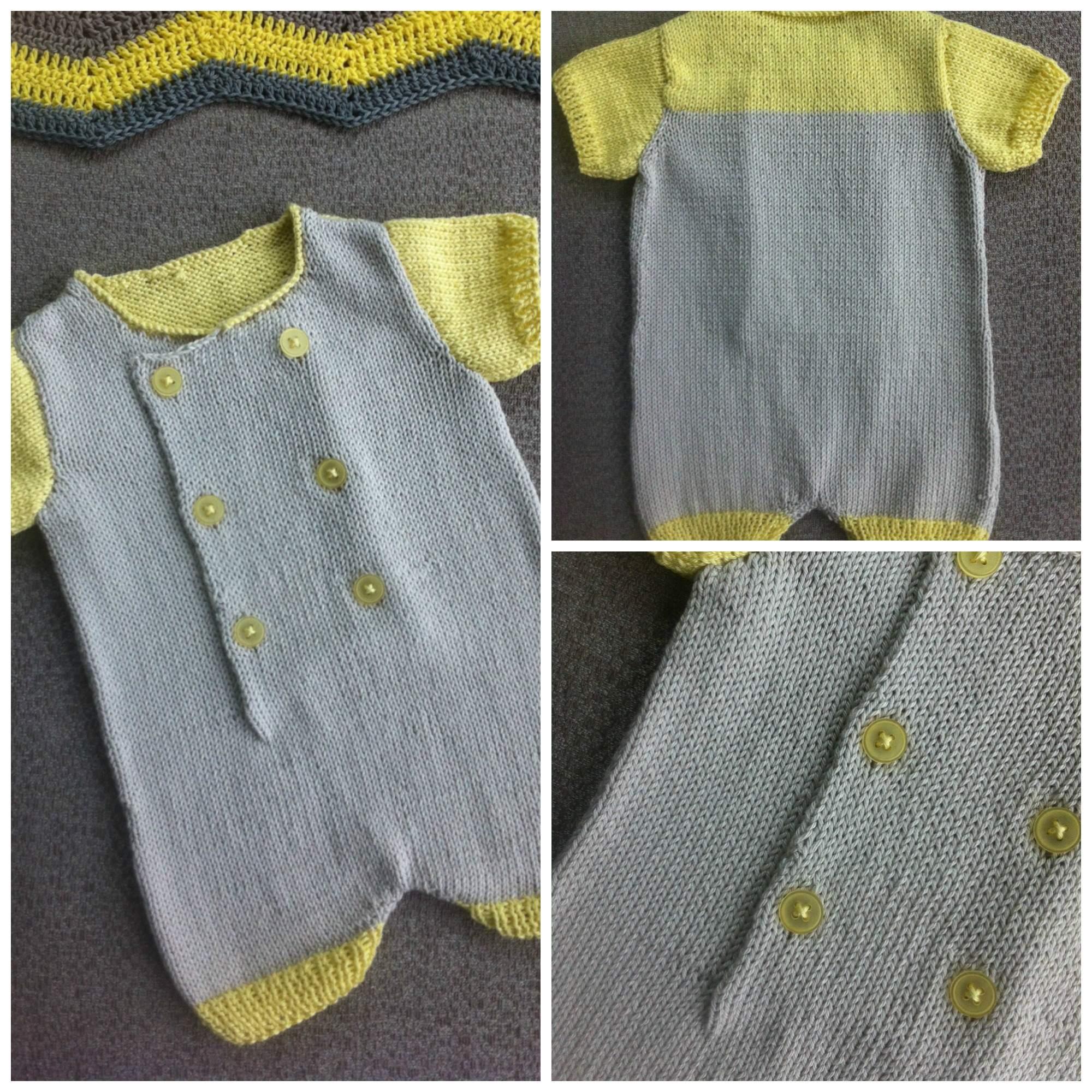 tricoter une combinaison pour bebe