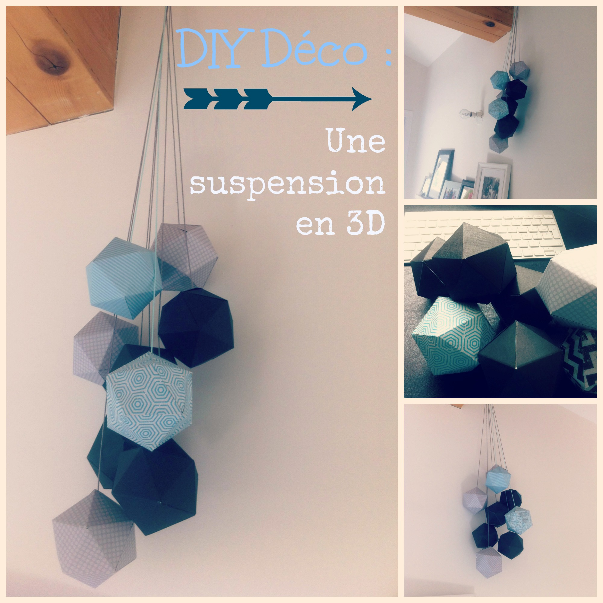 diy d co une suspension en 3d pour votre int rieur. Black Bedroom Furniture Sets. Home Design Ideas