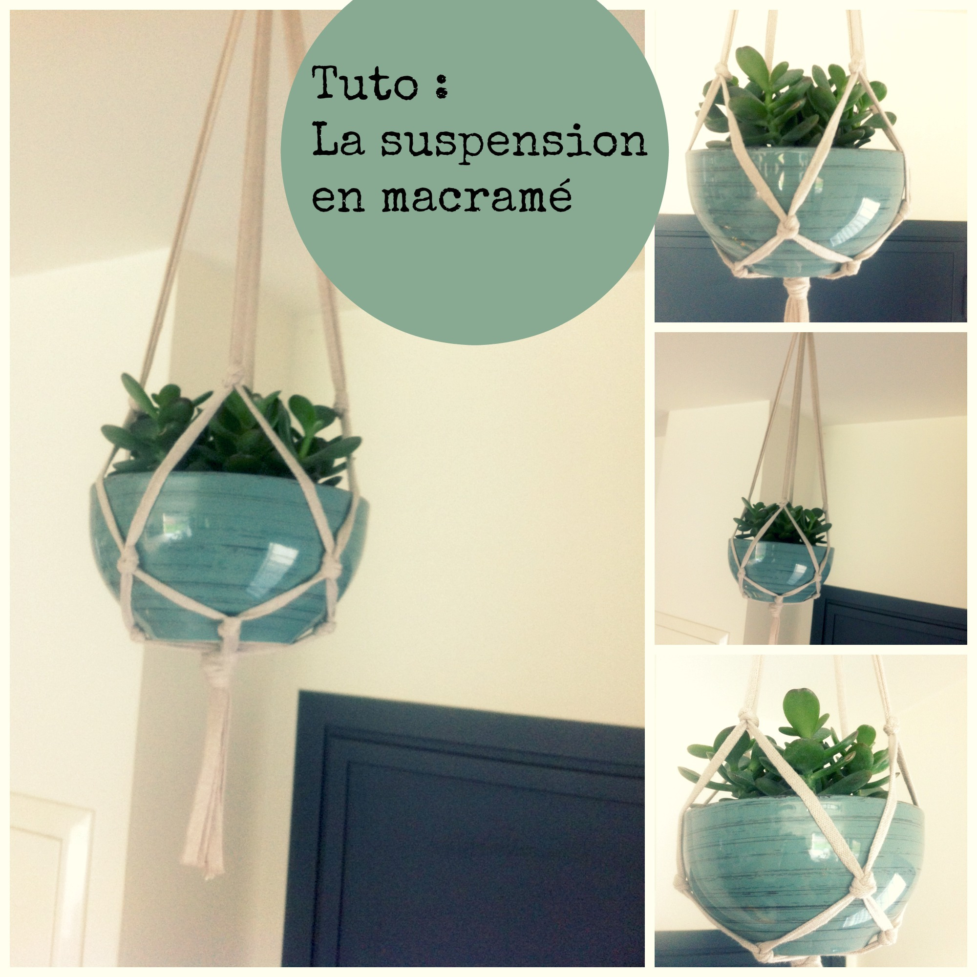 Suspension macram le tuto - Suspension pot de fleur macrame ...