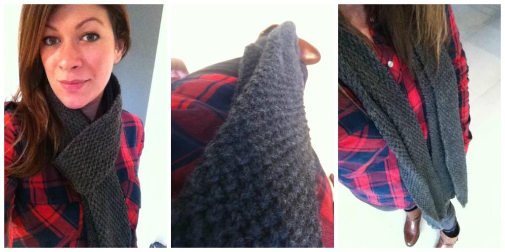 echarpe homme tricot