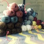 projets tricot et stock de laine